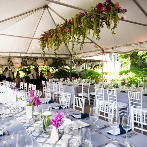 Modern Garden Party Wedding at Phipps Conservatory Outdoor Garden, Pittsburgh, PA