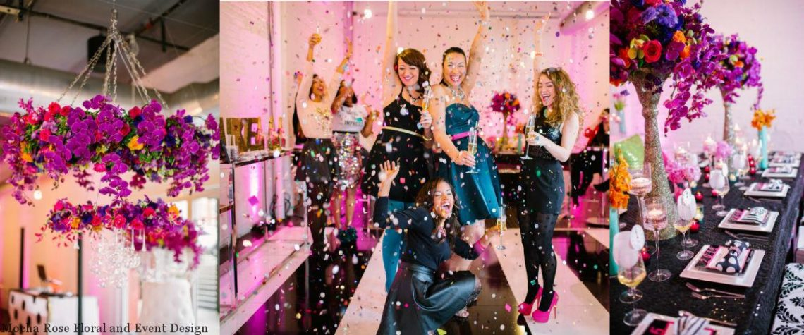 Kate Spade Inspired style shoot, New Years Eve party, Mattress Factory Museum, Mocha Rose, Shayla Hawkins Events, Caitlin Thomas Photography, sparkle and shine