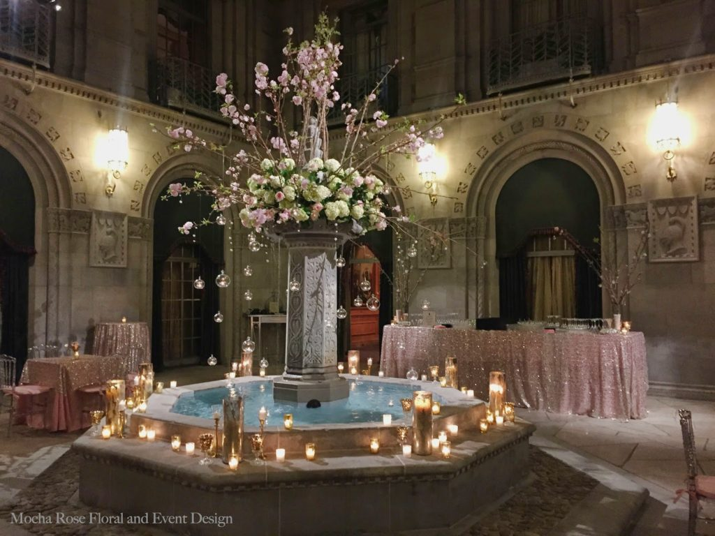 A Very Special 50th Birthday Party At The Duquesne Club Pittsburgh PA Mocha Rose Floral And