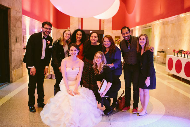 Team Mocha Rose, group photo, bride and groom, Caitlin Thomas Photography, Children's Museum Pittsburgh, Pittsburgh Kids,