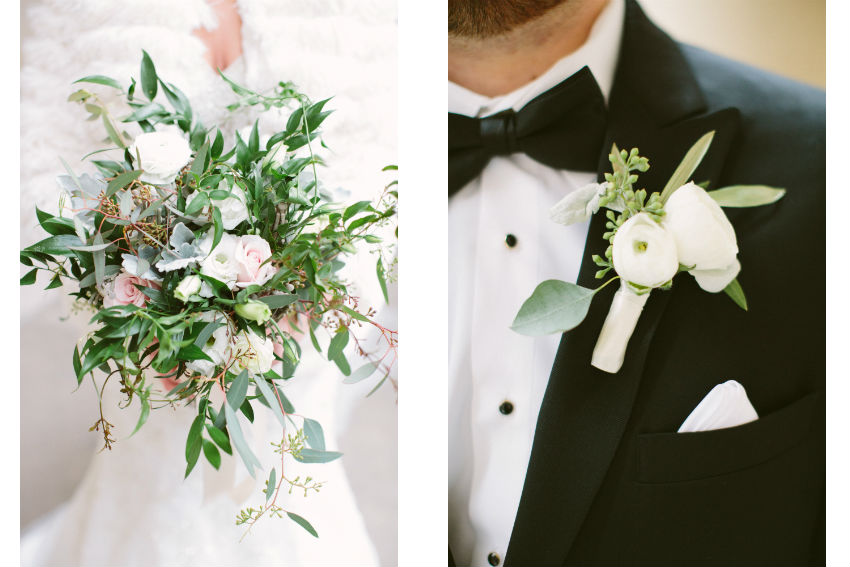 Glamorous Winter Greenery Wedding