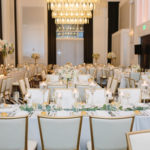 eucalyptus garland wedding reception centerpieces Hotel Monaco