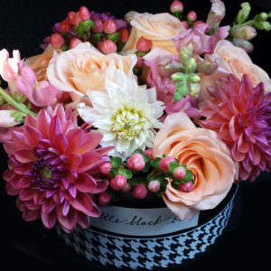 Mocha Rose custom design Little Black Box colorful flowers