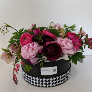 Mocha Rose custom designed Little Black Box Premium luxury floral gift arrangement