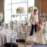 bride groom modern grayscale luxury reception wedding editorial styled shoot Fairmont Hotel Pittsburgh Michael Will photo
