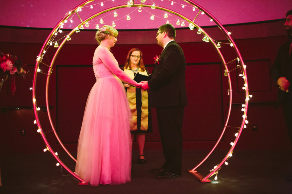 Carnegie Science Center Planetarium wedding ceremony moon arch pittsburgh