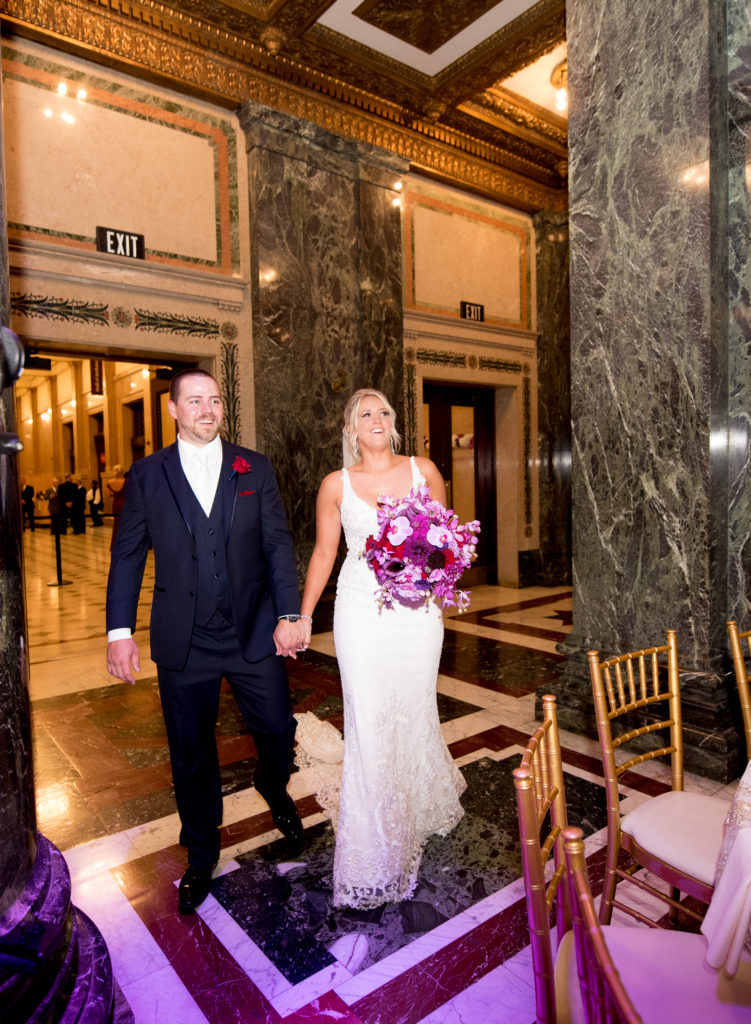 Carnegie Music Hall wedding reception bride groom room reveal