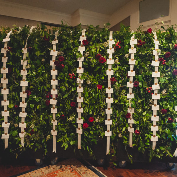 Romantic Roses & Greenery Cascades at Oakmont Country Club